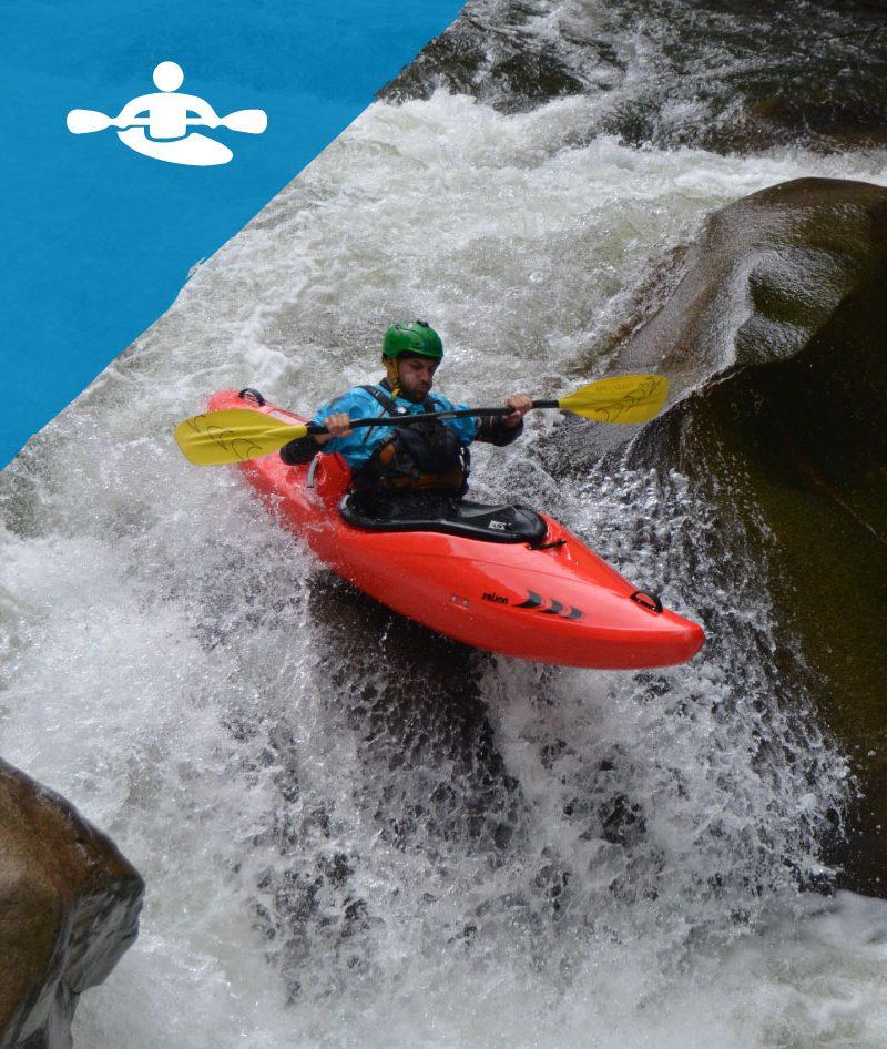 Santiago Canala, Kayak Ecuador whitewater guide, descending Jondachi River